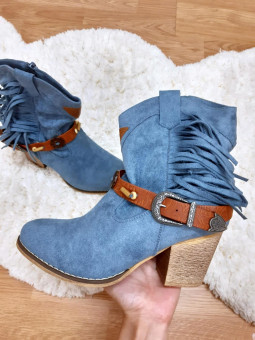 Botín cowboy azul (J72-1)