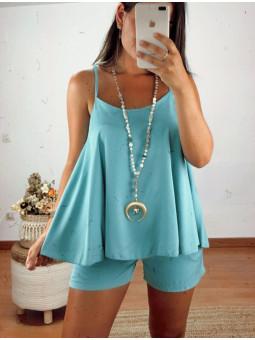Conjunto aguamar blusa Vero...