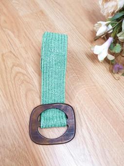 Cinturón rafia verde...