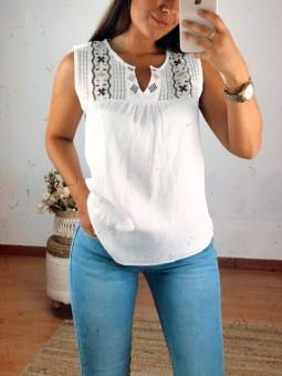 Blusa blanca Tánger (MF5600)