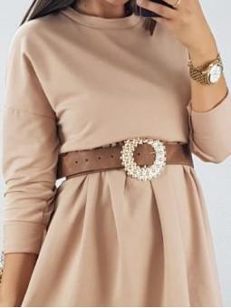 Cinturón marrón hebilla...