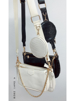 Bolso triple Paris snake...