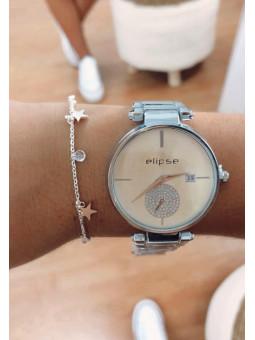 Conjunto reloj plata más...
