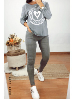 Pantalón/leggin gris...
