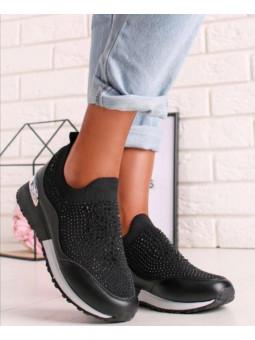Zapatilla  negra glitter