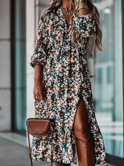 Vestido estampado flores Elisa
