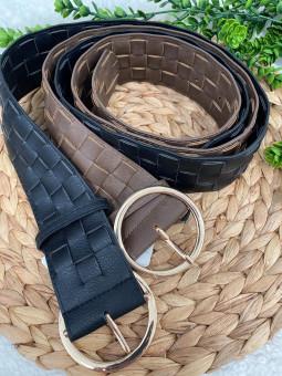 Cinturon trenzado hebilla...
