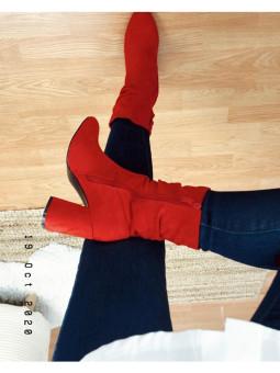 Botín rojo tacón (VB95056...