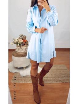 Vestido/ camisa azul bebé...