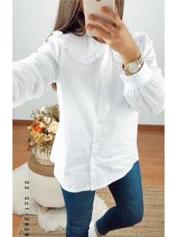 Camisa blanca cuello bobo...
