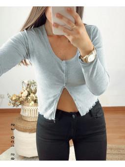 Chaqueta/Camiseta gris...