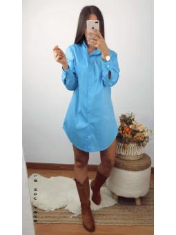 Vestido/ camisa azul...