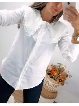 Blusa blanca Bella cuello...