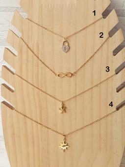 Collar mini figura dorada