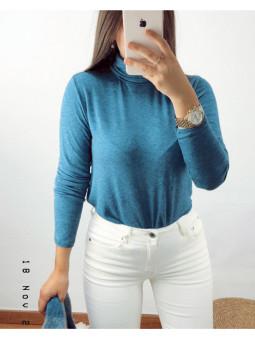 Suéter azul cuello cisne (V03)