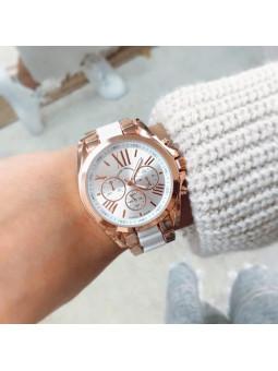 Reloj oro rosa y blanco Style