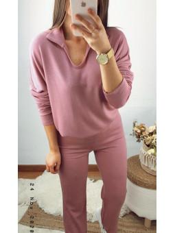 Conjunto rosa pantalón y...