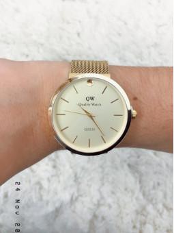 Reloj dorado malla