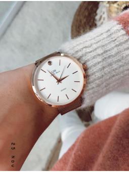Reloj oro rosa malla
