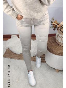 Pantalón vaquero beige (M5780)