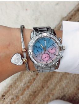 Reloj plata fantasía
