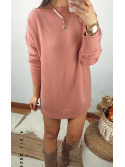 Vestido rosa punto fino...