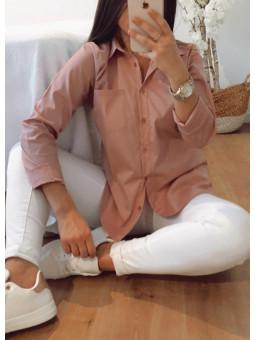 Camisa rosa bolsillo Elena...