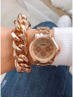 Conjunto reloj dorado...