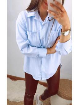 Camisa azul Mariola rayitas