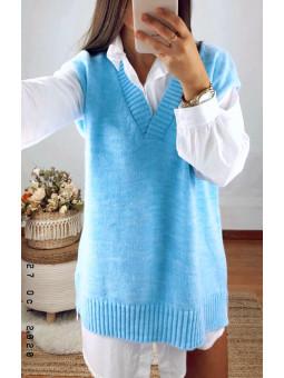 Chaleco oversize azul (V01)