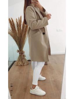 Abrigo beige de paño Zoe (V02)
