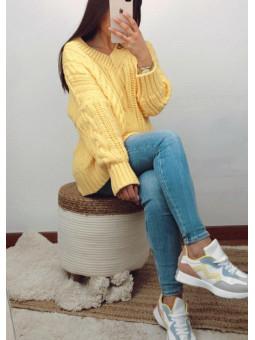 Suéter lana amarillo...