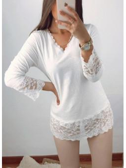 Camiseta lencera blanca...