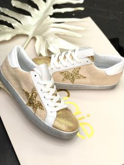 Zapatillas beige estrella...