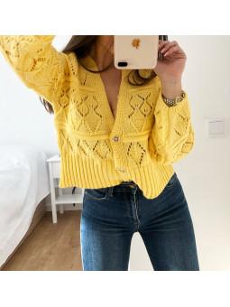 Chaqueta lana amarilla...