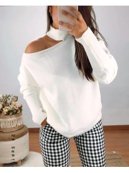 Suéter blanco desigual...