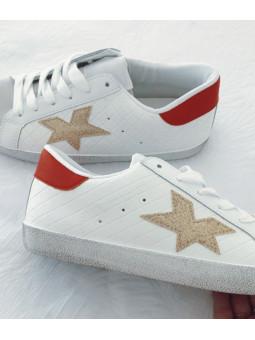 Zapatillas blancas estrella...