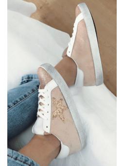 Zapatillas rosa estrella...