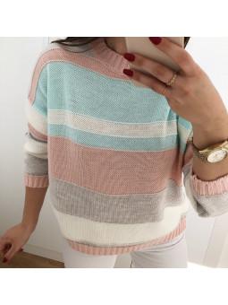 Suéter franjas irregulares...