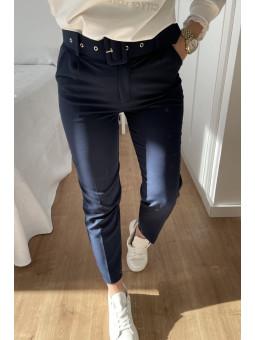Pantalón office azul marino...