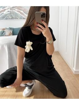 Camiseta osito peluche negro