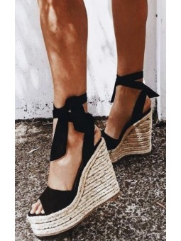 Sandalias negras plataforma...