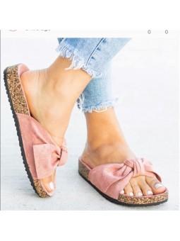 Sandalia rosa lazada ante...