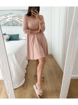 Vestido básico rosa...