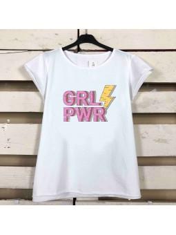 Camiseta GIRL POWER rayo (M18)
