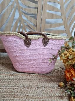 Capazo rosa glitter
