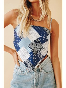 Top tipo pañuelo patchwork
