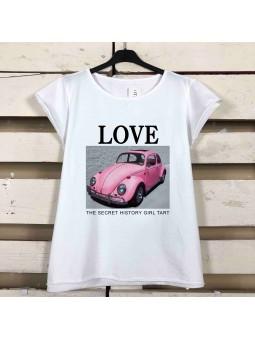 Camiseta pink car love (M18)