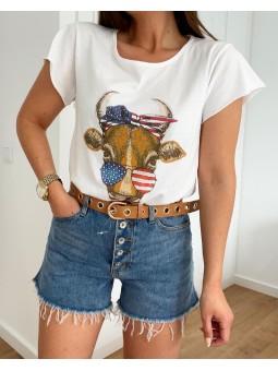 Camiseta cow (M18)