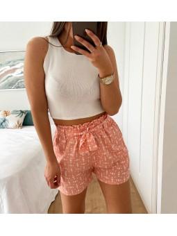 Pantalón corto rosa salmón...